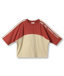 branshes/切り替え配色8分袖Tシャツ(90~150cm)/502515193