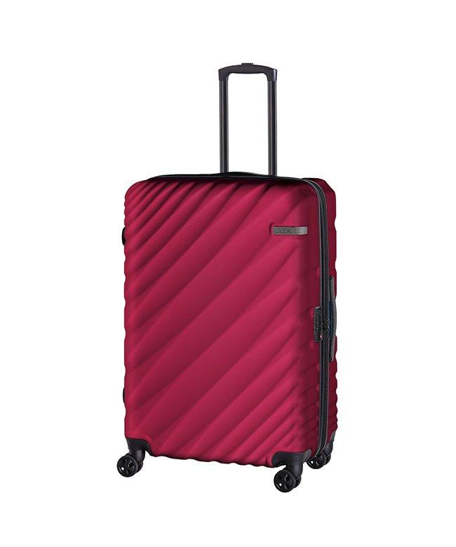 カバンのセレクション エース オーバル スーツケース Lサイズ 90L/111L 拡張 軽量 大型 大容量 ACE 06423 ユニセックス レッド フリー 【Bag & Luggage SELECTION】