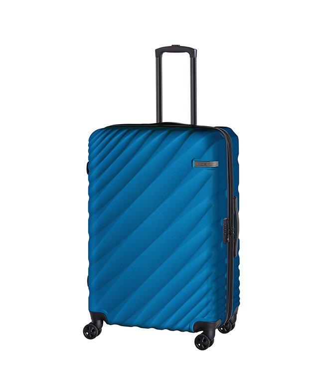 カバンのセレクション エース オーバル スーツケース Lサイズ 90L/111L 拡張 軽量 大型 大容量 ACE 06423 ユニセックス ブルー フリー 【Bag & Luggage SELECTION】