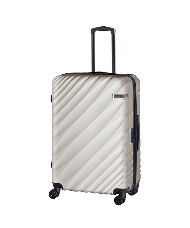 カバンのセレクション エース オーバル スーツケース Lサイズ 90L/111L 拡張 軽量 大型 大容量 ACE 06423 ユニセックス ライトグレー フリー 【Bag & Luggage SELECTION】