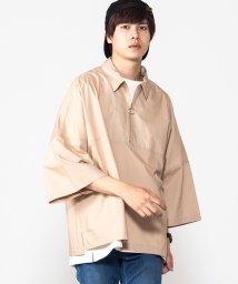 WEGO/WEGO/コットンタイプライターハーフ7分袖ZIPシャツ/502388399