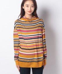 BENETTON (women)/ボトルネックボーダーロングTシャツ・カットソー/502503373