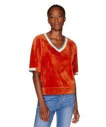BENETTON (women)/ベロア袖ロゴVネックTシャツ・カットソー/502503374