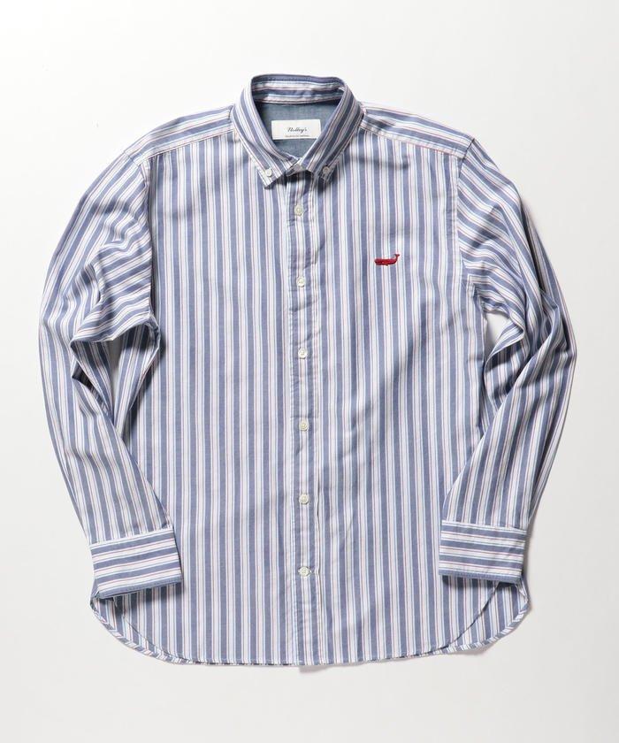 クジラ刺繍ボタンダウンシャツ