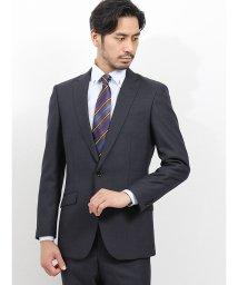 TAKA-Q/洗えるスラックス スリムフィット2ピーススーツ 組織 紺/502518101