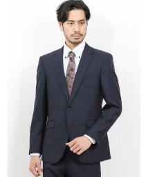 TAKA-Q/洗えるスラックス レギュラーフィット2ピーススーツ チェック紺/502518105