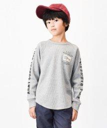 CONLUSOR/袖ロゴワッフルロングTシャツ/502519333