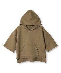 RADCHAP/フード付ピグメント7分袖Tシャツ(80~140cm)/502519345