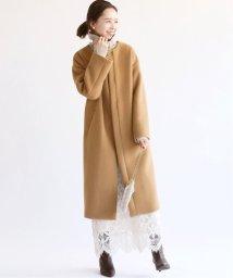 IENA/ラムウールノーカラーロングコート◆/502520499