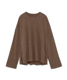 Mila Owen/サイドスリットロングスリーブTシャツ/502521130