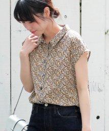 le.coeur blanc/カラーフラワープリントフレンチシャツ/502451368