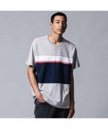Levi's/MIGHTY PIECED Tシャツ TAPE APPLIQUE M GREY HTHR/ DRESS BLUES/502488020