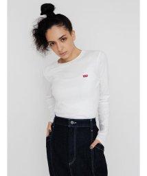 Levi's/ロングスリーブTシャツ BABY TEE WHITE +/502494826