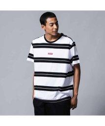 Levi's/リラックスグラフィックTシャツ BABY TAB BOLT STRIPE WHITE/ BLACK STRIPE/502494858