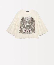 SISLEY YOUNG/スパンコールフレアスリーブTシャツ・カットソー/502503553