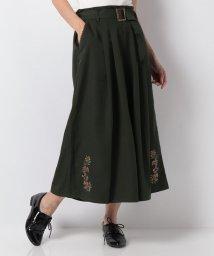 axes femme/ベルト付き裾刺繍ワイドパンツ/502506059