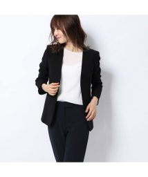 Rename/リネーム Rename ノーカラー七分袖ジャケット (ブラック)/502521612