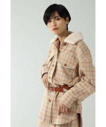 ROSE BUD/衿ボア付きチェックシャツブルゾン/502522437
