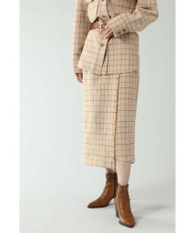 ROSE BUD/チェックラインスカート/502522444