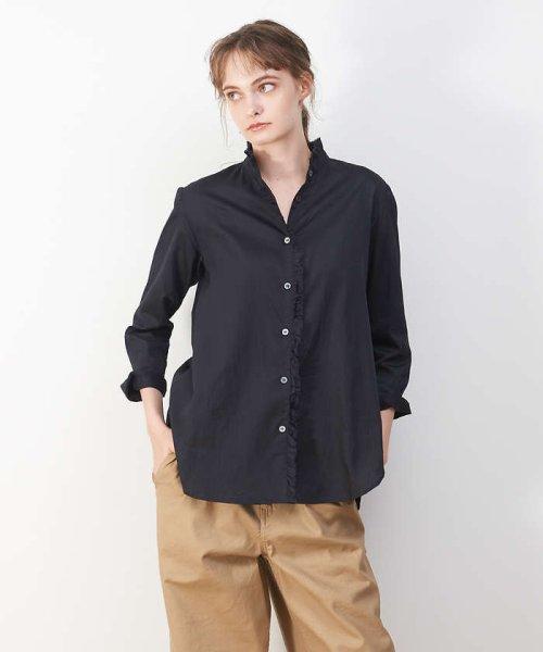 collex(collex)/綿サテンフリルシャツ【予約】/60390605004