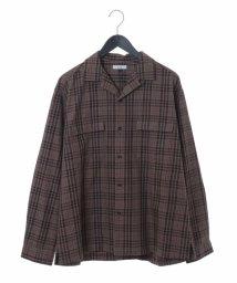 a.v.v (MEN)/チェックガラオープンカラーシャツ/502489133