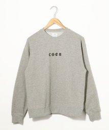 coen/coenチビロゴスウェットクルーネック(トレーナー)/502516159