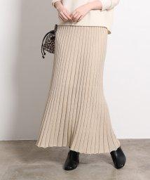 ROPE' mademoiselle/ラメニットプリーツスカート/502525098