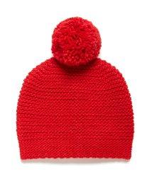 BENETTON (women)/柄編みポンポン付きニットワッチキャップ・ニット帽/502503383