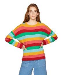 BENETTON (women)/ウールマルチボーダークルーネックニット・セーター/502503384