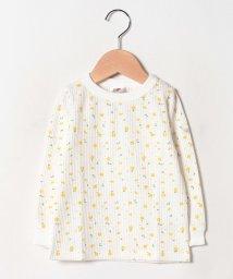 petit main/【FRUIT OF THE LOOMコラボ】 総柄ワッフルTシャツ/502518064