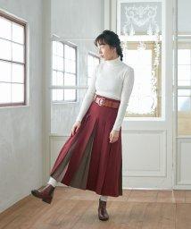 FURIFU/【ふりふWEB限定】配色ボックスプリーツスカート/502519398