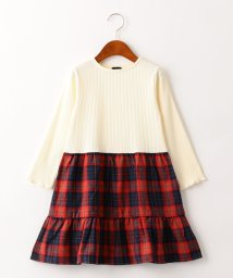 green label relaxing (Kids)/【キッズ】GLR ティアードコンビワンピース/502525828