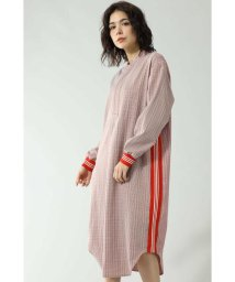 ROSE BUD/CHECK PULL OVER DRESS WITH LINE/502526137