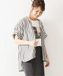 Spick & Span/ストライプスリーブギャザーシャツ/502527072