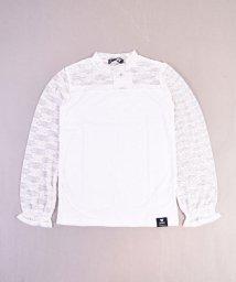 ZIDDY/ストレッチレースショートネックTシャツ/502460614