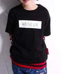 WASK/ボックスプリントTシャツXボーダーロンTシャツセット(140cm~160cm)/502460623