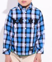 WASK/星パッチチェックシャツ(140cm~160cm)/502460636