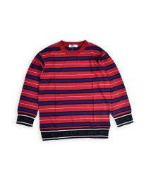 WASK/ロゴリブボーダーTシャツ(140cm~160cm)/502460658