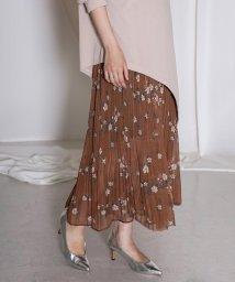 Bou Jeloud/◆ふんわり軽やか◆花柄プリーツスカート/502507395