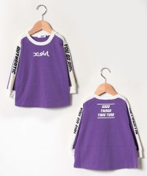 X-girl Stages/袖ロゴテープ長袖Tシャツ/502515450