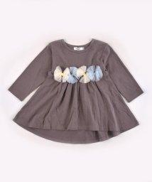 SLAP SLIP/天竺チュールリボンTシャツ/502517377