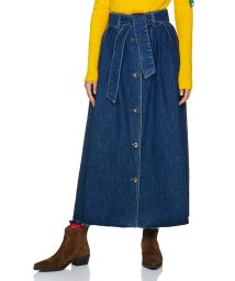 BENETTON (women)/ベルト付きフロントボタンデニムロングスカート/502518017