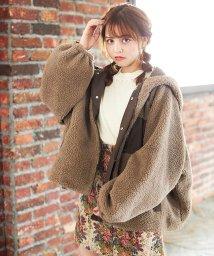 INGNI/前ボタン花柄ゴブラン台形/スカート/502520708