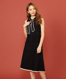 MIIA/【セットアップ対応商品】バイカラーニットフレアスカート/502524647