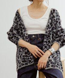 ROPE' mademoiselle/レオパード柄ファーニットカーディガン/502528788