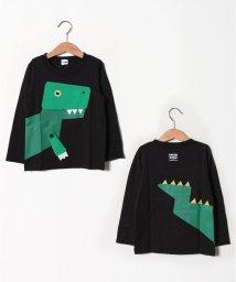 CHEEK ROOM/恐竜ロングTシャツ/502520240