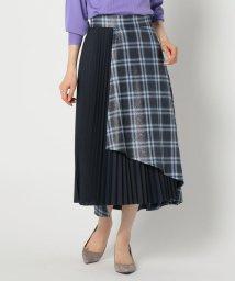 NOLLEY'S sophi/チェックコンビプリーツスカート/502521735