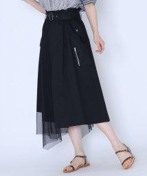 LASUD/[MIREPOIX]チュールドッキング トレンチデザインスカート/502528900