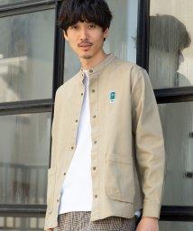coen/【GO OUT10月号掲載】MEI(メイ)別注キャンバススナップボタンバンドカラーシャツ(その他⇒WEB限定カラー)/502530011