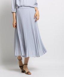 INDIVI/[L]【マシンウォッシュ】スローププリーツスカート/502530924